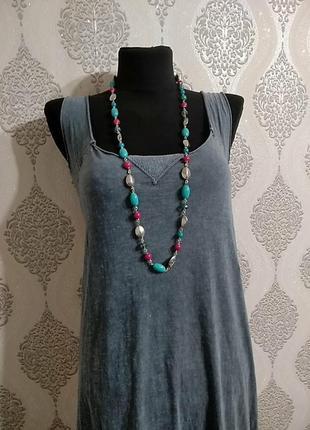 M&s.колье ожерелье бусы из разнообразных бусин