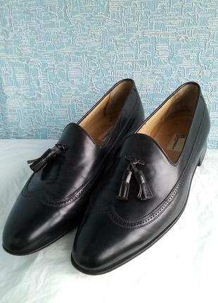 Кожаные туфли лоферы moreschi морески