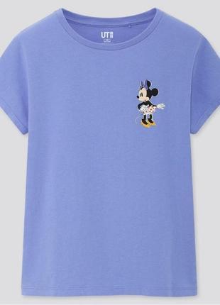 "Голубая футболка на девочку ""disney stories""  uniqlo"