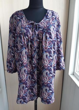 Классная вискозная блуза/туника.