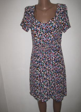 Вискозное платье new look р-р10 мелкий цветок