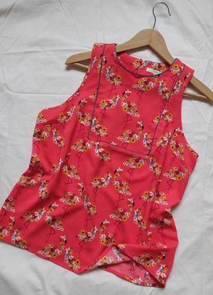 Очень классная летняя блузка с фламинго