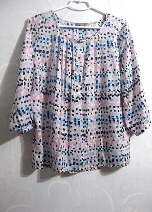 Весёлая пёстрая нежная разноцветная блуза