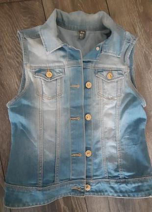 Жилетка рубашка джинсовая