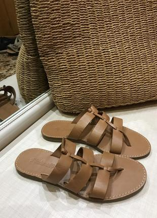 Шикарные брендовые кожаные сандали шлепки madewell