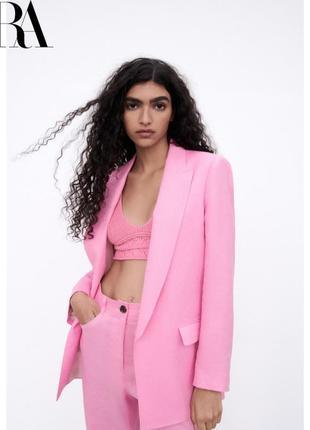 Розовый пиджак из новой коллекции zara