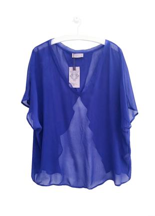 Cтильная шифоновая блуза топ разлетайка пляжная накидка label lab