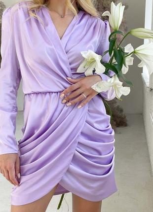 Шелковое праздничное платье