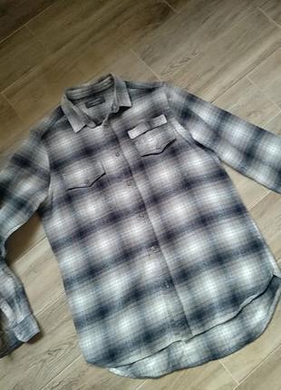 Рубашка в клетку хлопковая размер m