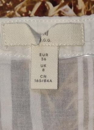 Новая хлопковая блуза h&m. размер 385 фото