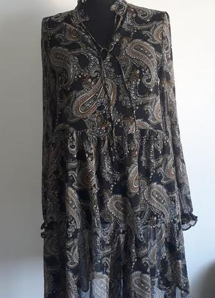 Легкое платье оверсайз шифон