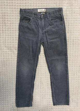 Вельветовые серые брюки h&m 122см