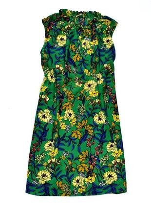 Tu вискозное очень красивое платье туника прямого кроя в цветочный принт. 2хл. 14.42