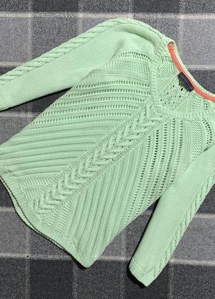 Женская хлопковая кофта (свитер) marks&spencer (маркс и спенсер хл-ххлрр идеал оригинал зеленая)