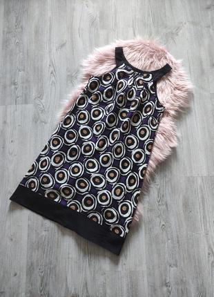 Натуральное льняное платье прямого кроя