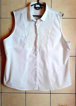Красивейшая белоснежная хлопковая рубашка