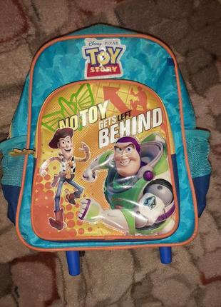 Школный рюкзак на колесиках toy story синий
