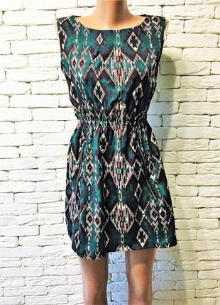 Стильное платье с этно-принтом, на невысокий рост