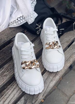 Кеды кроссовки с цепью