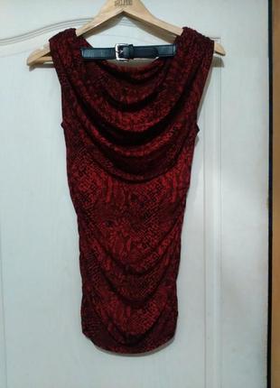 Платье мини со змеиным принтом и открытой спиной michael kors