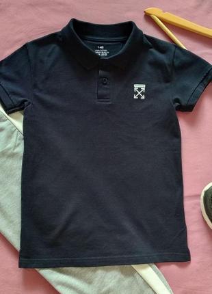 Фуболка поло для дітей (146 чорний) в кольорах та розмірах, хлопок 100%