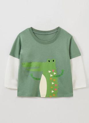Лонгслив для мальчика crocodile, 2-7лет