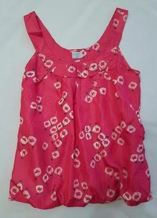 Oasis шовк натуральный шелк цветочный принт м блуза блузка пог 45 см