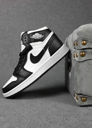 Женские кроссовки nike jordan белые с чёрным | жіночі кросівки найк білі з чорним7 фото