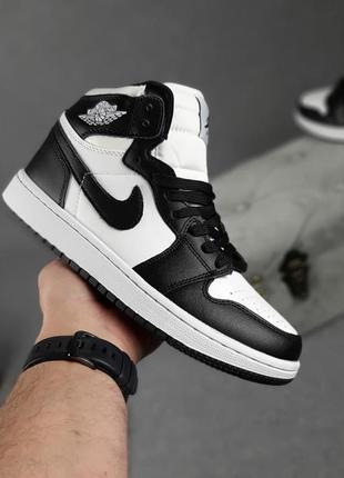 Женские кроссовки nike jordan белые с чёрным | жіночі кросівки найк білі з чорним8 фото