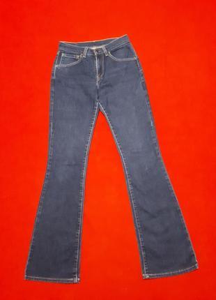Levi's джинсы синие клеш на высокую леди р s  xs