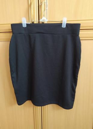 Трикожная черная юбка, миниюбка