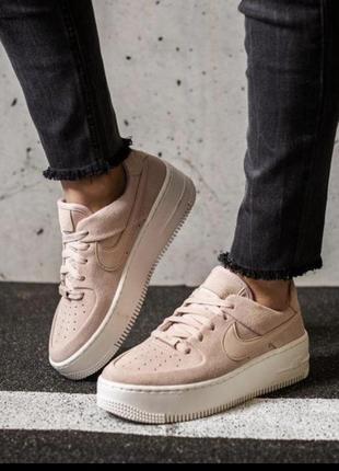 Кожаные кроссовки nike air force 1 размер 37 оригинал