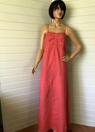 Летнее льнянное платье  120%lino