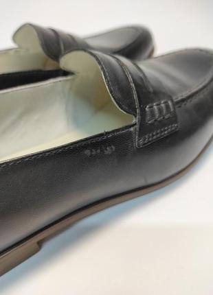 Кожаные лоферы черные туфли женские лофери туфлі5 фото