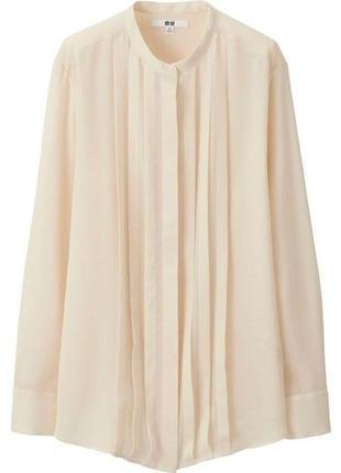 Стильна блуза uniqlo молочного кольору
