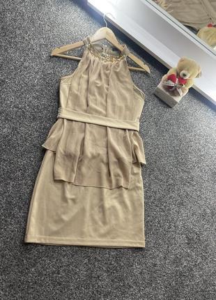 Нарядное бежевое платье от kira plastinina