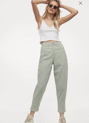 Джинсы брюки h&m m-l mom мом