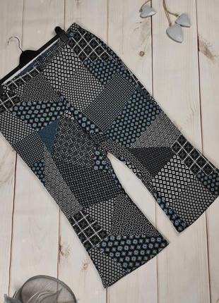 Штаны брюки новые красивые в принт marks&spencer uk 18/46/xxl
