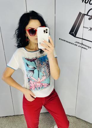 Класна яскрава футболка rich&royal розмір м ціна 139 грн