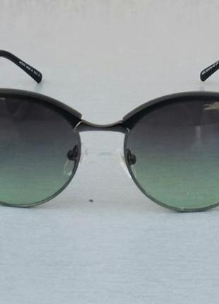 Lacoste очки солнцезащитные унисекс серо зеленый градиент в металлической оправе