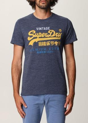 Футболка с винтажным принтом логотипа superdry.