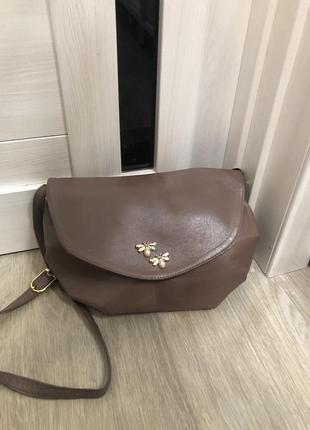 Кожаная сумка. кожаная сумочка через плечо. шкіряна сумка