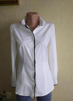 Фирменная базовая белая рубашка ,р. 38