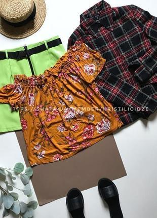 Блуза с открытыми плечиками р.xl