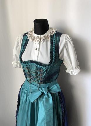 Дирндль баварский костюм бирюза синий октоберфест