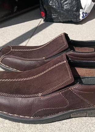 Легкие и комфортные туфли rieker 44-45 натуральная кожа