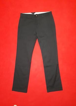 Чёрные штаны брюки прямые р 33