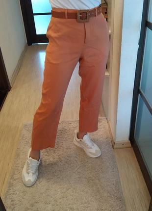Лёгкие тонкие брюки под пояс selected из лиоцела.
