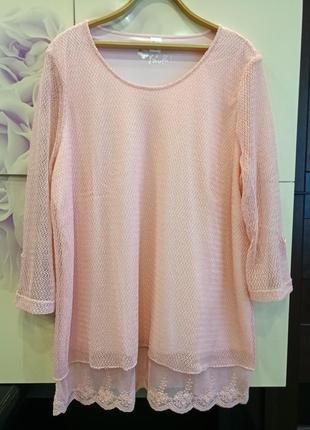 Роскошная!!!  удлиненная блуза- туника paola большой размер 56-60 германия