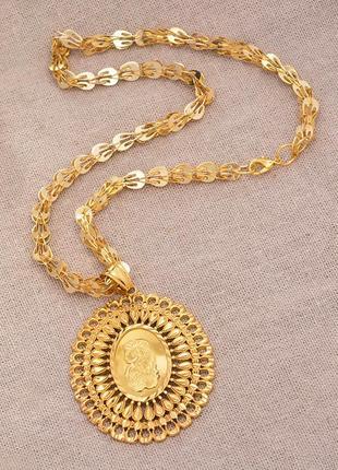 Новое французское модное большое золотое красивое трендовое ожерелье колье цепочка кулон